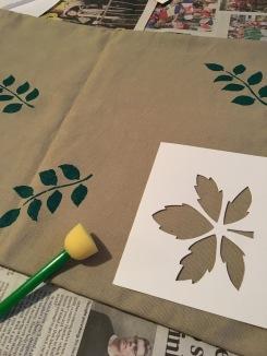 Handprinting in progress