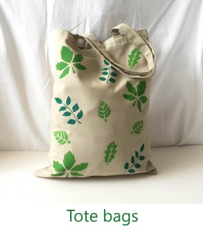 Tote bags on Nature Crafts